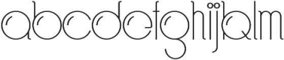 Bubble Regular otf (400) Font LOWERCASE