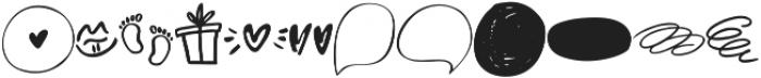 Bubbles_doodles ttf (400) Font LOWERCASE