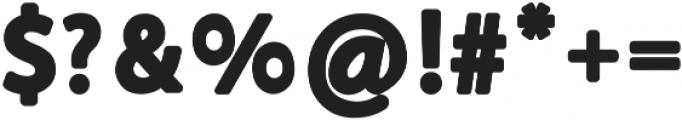 Bublo otf (700) Font OTHER CHARS