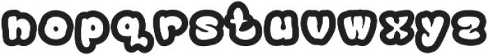 Bublo otf (700) Font LOWERCASE