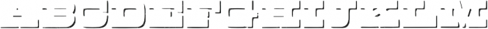 Buckboard Shadow Regular otf (400) Font UPPERCASE