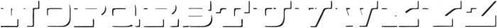 Buckboard Shadow Regular otf (400) Font LOWERCASE