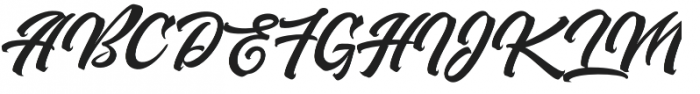 Buckskin Script Regular otf (400) Font UPPERCASE
