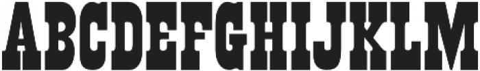 Buffalo Western Regular otf (400) Font UPPERCASE
