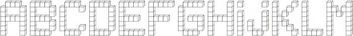 Building Blocks ttf (400) Font LOWERCASE