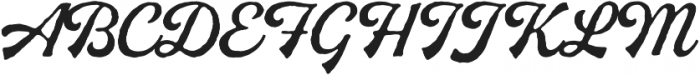 Buinton Rough One otf (400) Font UPPERCASE