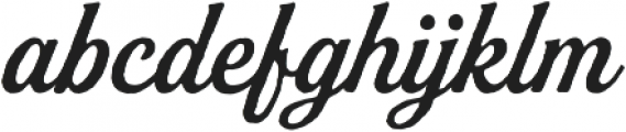 Buinton Rough One otf (400) Font LOWERCASE