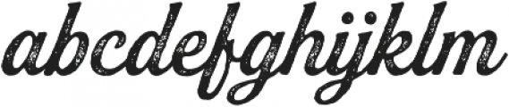 Buinton Rough Two otf (400) Font LOWERCASE