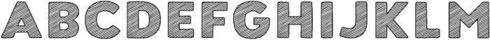 Buket Fat Sketch1 otf (800) Font UPPERCASE