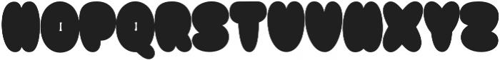 Bulb shadow otf (400) Font UPPERCASE