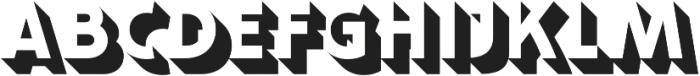 Bulblamp 1-ShadowRight otf (400) Font UPPERCASE