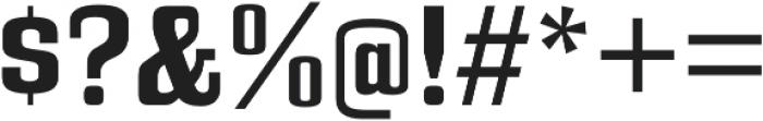 Bullpen Bold otf (700) Font OTHER CHARS