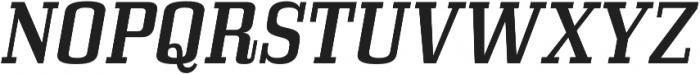 Bullpen Italic otf (400) Font UPPERCASE