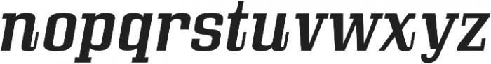 Bullpen Italic otf (400) Font LOWERCASE