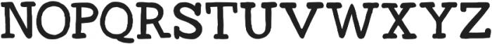 Bullstander Slab otf (400) Font UPPERCASE