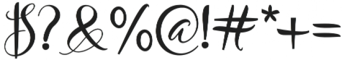 Bungalow Regular otf (400) Font OTHER CHARS