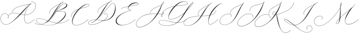 Bungalow script Regular otf (400) Font UPPERCASE