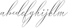 Bungalow script Regular otf (400) Font LOWERCASE