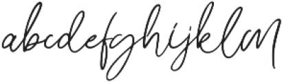 Bunggi otf (400) Font LOWERCASE