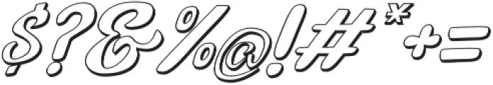 Bunny Funny Italic Shadow otf (400) Font OTHER CHARS