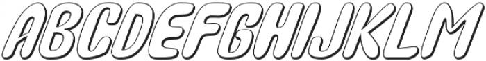 Bunny Funny Italic Shadow otf (400) Font UPPERCASE