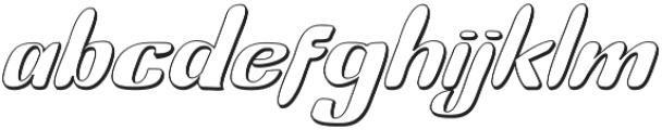 Bunny Funny Italic Shadow otf (400) Font LOWERCASE