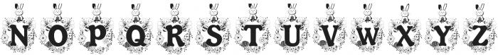 Bunny Hop Monogram ttf (400) Font UPPERCASE
