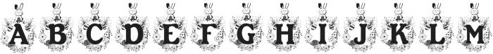 Bunny Hop Monogram ttf (400) Font LOWERCASE