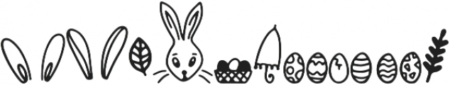 Bunny Tail Doodle otf (400) Font UPPERCASE