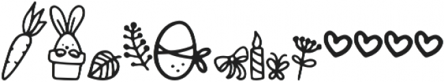 Bunny Tail Doodle otf (400) Font LOWERCASE