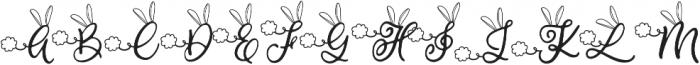 Bunny Tail otf (400) Font UPPERCASE