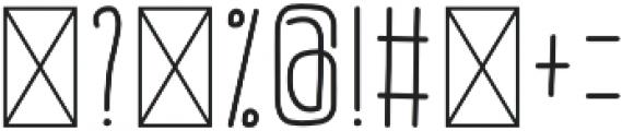 BunnyHop Regular otf (400) Font OTHER CHARS