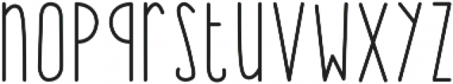 BunnyHop Regular otf (400) Font LOWERCASE