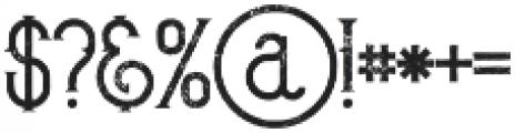 Bureno Regular Grunge otf (400) Font OTHER CHARS