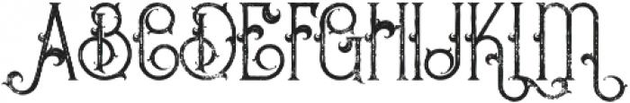 Bureno Regular Grunge otf (400) Font UPPERCASE