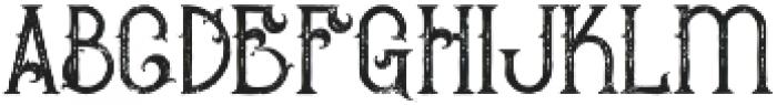 Bureno Regular Grunge otf (400) Font LOWERCASE