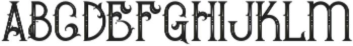 Bureno Regular otf (400) Font LOWERCASE
