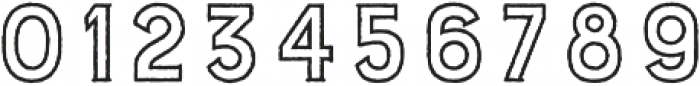 Burford Rustic Outline otf (400) Font OTHER CHARS