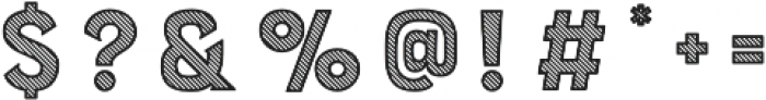Burford Stripes A otf (400) Font OTHER CHARS