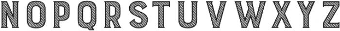 Burford Stripes A otf (400) Font UPPERCASE