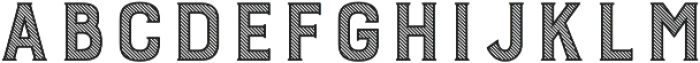 Burford Stripes A otf (400) Font LOWERCASE