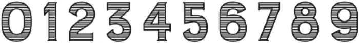 Burford Stripes B otf (400) Font OTHER CHARS