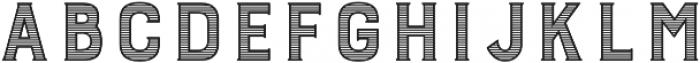 Burford Stripes B otf (400) Font UPPERCASE