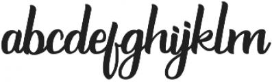 Burgundy Regular ttf (400) Font LOWERCASE