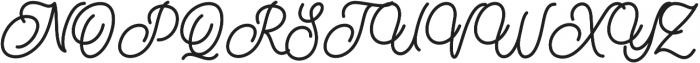 Burline Script otf (400) Font UPPERCASE