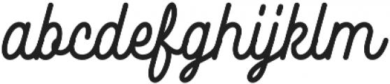 Burline Script otf (400) Font LOWERCASE