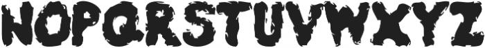 Burly Stain otf (400) Font UPPERCASE