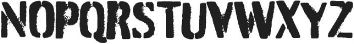 Burnaby Stencil otf (400) Font UPPERCASE