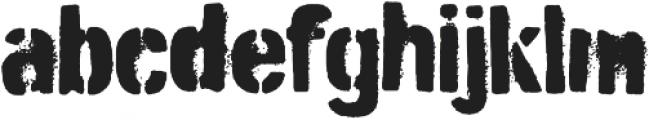 Burnaby Stencil otf (400) Font LOWERCASE