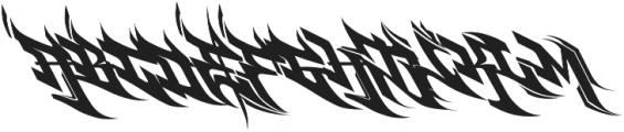 Burner otf (400) Font UPPERCASE